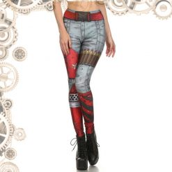 Legging steampunk balles face