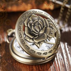 montre gousset steampunk roses echancree