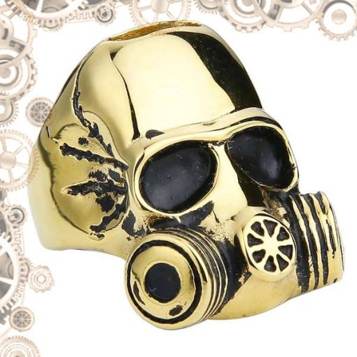 bague steampunk homme or