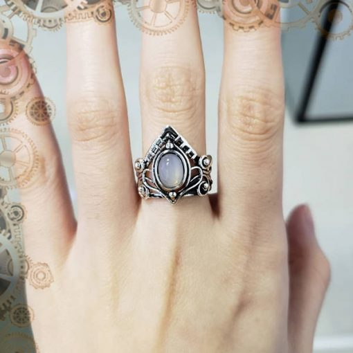 bague steampunk victorienne strass 2