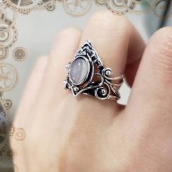 bague steampunk victorienne strass
