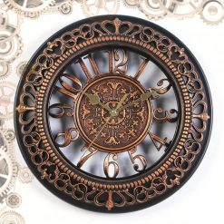 horloge steampunk antique bronze face