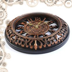 horloge steampunk antique couchée