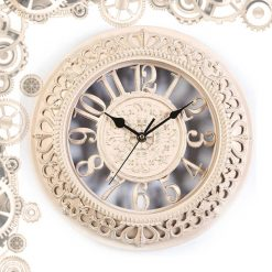 horloge steampunk antique ivoire face