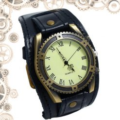 montre steampunk homme antique noir bronze