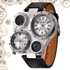 montre steampunk vintage marron
