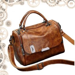 sac a main steampunk clouté marron