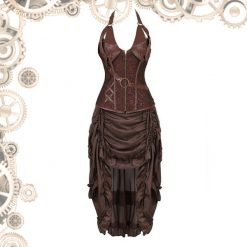 robe style steampunk marron face