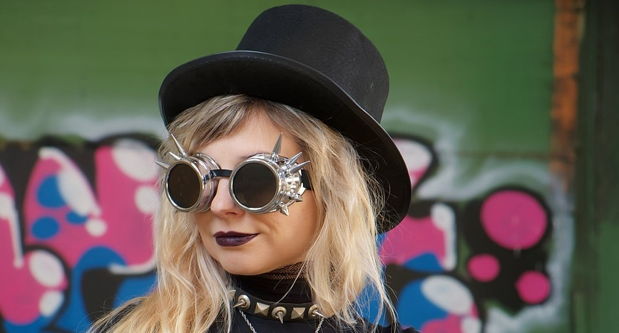 steampunk goggles yeux